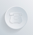 Circle icon with a shadow classic retro phone vector