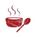 Red grunge soup logo vector