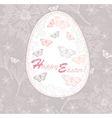 Easter egg easter card with floral pattern vector