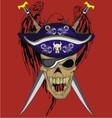 Eagle sword skull vector