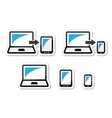 Responsive design - laptop tablet smarthone vect vector