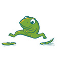 Leaping frog vector