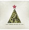 Merry christmas card with grunge christmas tree vector