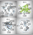 World maps set infographic templates for business vector