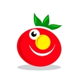 Smile character tomato sign vector