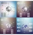 Infographics set templates for business design vector