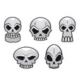 Different human skulls for halloween vector