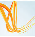 Background template with orange speed waves vector
