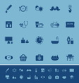 Health behavior color icons on blue background vector