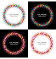 Set of colorful bright halftone circles logo vector