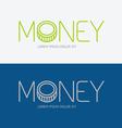 Alphabet design money business concept vector