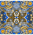 Authentic seamless floral geometric pattern vector