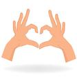 Heart shaped hands vector