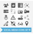 Social media icons set 6 vector