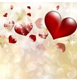 Abstract heart bokeh bright background eps 10 vector
