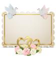 Wedding board vector