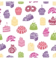 Cakes and sweets seamless pattern background vector