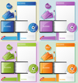 Corporate identity in different color variations vector