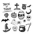 Halloween icon cartoon vector