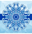 Blue colour vintage pattern hand drawn abstract vector