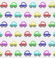 Seamless pattern with color toy car background vector