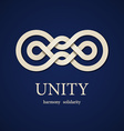 Unity paper knot design template vector