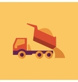 Truck transportation flat icon vector