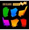 Origami set vector