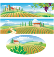 Agriculture landscapes vector