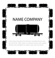 American style tank car vector