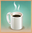White coffee cup on old paper background vector