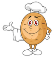 Cute potato chef cartoon character vector