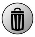 Garbage button vector