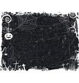 Black and white grunge halloween frame vector