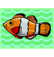 Vintage background with fish vector