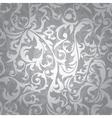 Silver floral seamless vector