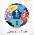 Infographic template with soccer jigsaw banner co vector