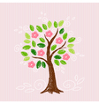 Tree with pink flower vector