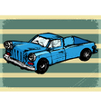 Vintage background with retro car vector
