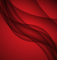 Red modern abstract lines swoosh certificate - vector