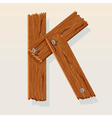 Wooden letter k vector