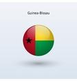 Guinea-bissau round flag vector