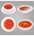 Tomato soup collection vector