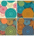 Seamless geometric tribal vintage patterns vector