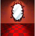 Red room with mirror vector
