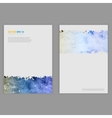 Grunge template flyer design vector