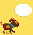 Cute puppy in cartoon style with place for your vector