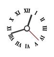 Hands and numerals clock elements vector