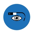 Google glass icon blue circle vector