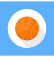 Basketball ball icon vector
